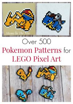 LEGO Pokemon pixel art ideas and inspiration. Create Pokemon art with LEGO or Perler Beads. Pokemon patterns for LEGO. Pokemon patterns for Perler. Lego Pokemon, Pokemon Craft, Cool Pokemon, Papercraft Pokemon, Hama Beads, Lego Sets, Fun Crafts, Crafts For Kids, Bead Crafts