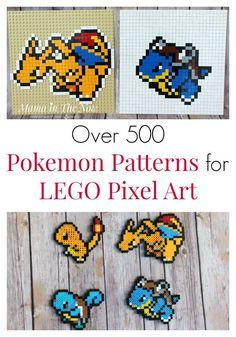 LEGO Pokemon pixel art ideas and inspiration. Create Pokemon art with LEGO or Perler Beads. Pokemon patterns for LEGO. Pokemon patterns for Perler. Lego Pokemon, Pokemon Craft, Cool Pokemon, Papercraft Pokemon, Creative Arts And Crafts, Fun Crafts, Crafts For Kids, Bead Crafts, Hama Beads