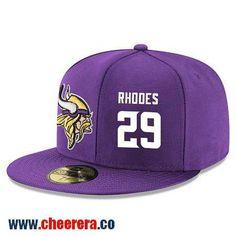 Minnesota Vikings  29 Xavier Rhodes Snapback Cap NFL Player Purple with  White Number Hat Sports 56ee3b34f