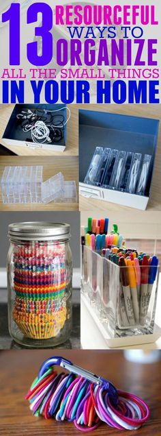 Craft Storage Having a designated spot in your home for everything, big or small, is the best way to stay organized. If you are tired of losing the little things in your home, then you need to read this post! Pinning for later!