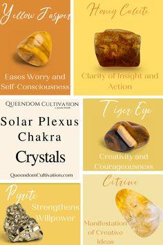 Chakra Crystals, Chakra Stones, Crystals And Gemstones, Happy Rock, Honey Calcite, Sabbats, Solar Plexus Chakra, Navel, Mother Earth