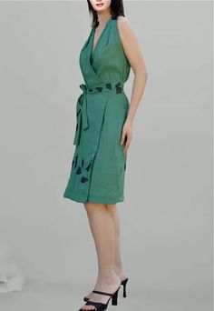 Wrap shrugs dress  in Green / Tunic by Danideng on Etsy, $69.00