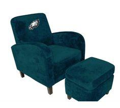 Philadelphia Eagles Den Chair with Ottoman