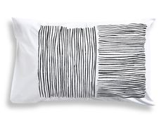 Black Lines Pillowcase by New Zealand designers HenryandCo Green And Orange, Yellow, Pillow Cases, Bedding, Black, Bedrooms, Designers, Cushions, Interiors