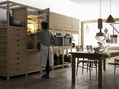 Valcucine Sine Tempore Remodelista Cabinets  Modern farmhouse style.  Richard would love this!