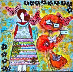Original Mixed Media Painting 8X8 gallery by HeartWideOpenArt, $52.00
