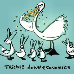 Trickle down #economics#cartoon