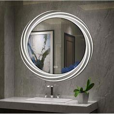 Good purchase Bode Back Lit LED Daylight Bathroom Mirror By Orren Ellis Bathroom Colors, Bathroom Sets, Master Bathroom, Mirror Bathroom, Vanity Mirrors, Bathroom Mirror With Lights, Bathroom Designs, Small Toilet, Led Mirror