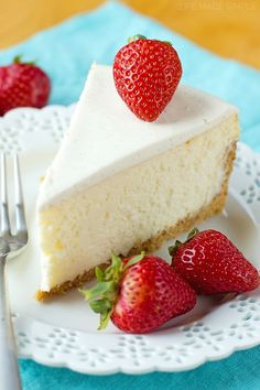 Thick, dense and ultra-rich, this perfect New York cheesecake is so easy it's fool-proof!