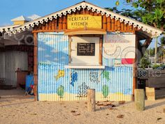 Heritage Kitchen is a famous and often painted and photographed fish fry/cafe in the West Bay District of Grand Cayman in the Cayman Islands #Caribbean