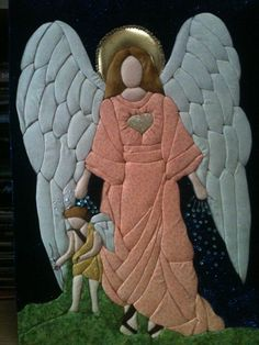 patchwork sin aguja inspirado desde un vitral arcangel chamuel
