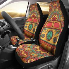 Hippie Van Car Seat Covers from Groove Bags. Shop more products from Groove Bags on Wanelo. Volkswagen Bus, T3 Vw, Custom Car Seat Covers, Car Seat Cover Sets, Hippie Car, Hippie Chick, Hippie Vibes, Hippie Bohemian, Bohemian Decor