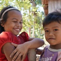 Giggly children in Cambodia. Trueworldtravels.com