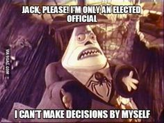 """""""I can't make decisions by myself!"""" • Nightmare before Christmas - one of my all-time favorite movies! •"""