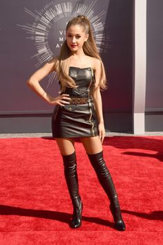Ariana Grande 2014 MTV VMA Red-Carpet Looks -- Vulture…not sure why this very beautiful young woman is dressing like a call girl…