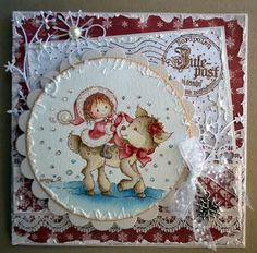 Stampavie, Christmas card, Distress Ink
