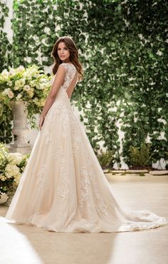 Style F181063 Jasmine Bridal #lace #weddingdress