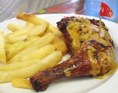 Peri-peri chicken, a staple of South African cuisine, actually has Mozambican-Portuguese origins; tribes introduced the flavor to Portuguese settlers in South African Desserts, South African Recipes, Caribbean Jerk Chicken, Peri Peri Chicken, Food Tags, Popsugar Food, Fast Food Chains, Restaurant Recipes, Other Recipes