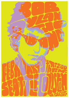 BOB DYLAN - retro artistic concert poster Large size 35.43 x 23.63 inches  - 1 piece