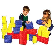 Cardboard blocks are perfect since they're not too heavy for little hands. Purchase this Deluxe Jumbo Cardboard Blocks from Melissa & Doug. Blocks For Toddlers, Kids Blocks, Cardboard Building Blocks, Best Toddler Toys, Toddler Stuff, Thick Cardboard, Melissa & Doug, Free Fun, Learning Toys