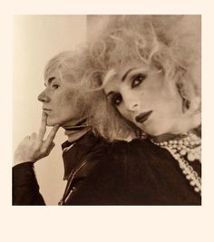"""hotparade: """" Cecil Beaton - Andy Warhol and Candy Darling, 1969 """" Andy Warhol Portraits, Candy Darling, Paint Photography, Cecil Beaton, Portrait Pictures, Hollywood, The St, Rock, Great Artists"""