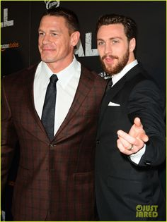 Aaron Taylor Johnson John Cena Couple Up At The Wall NYC Premiere Photo It Was A Straight Fest Last Nights April