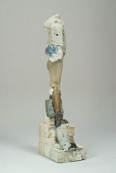2000-2010 - Stephen De Staebler 'Figure with Rounded Shoulder', 2008, 65.5 x 14 x 20.5 in
