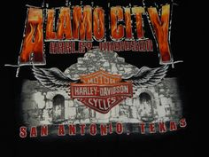 Men's Harley Davidson San Antonio Texas Alamo City T-shirt size X large XL Black #HarleyDavidson #GraphicTee