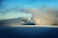 Ice and pollution in Norilsk