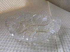 Cut Glass Dish by karenslittlebluebarn on Etsy Glass Dishes, Cut Glass, Container, Barn, Mugs, Creative, Handmade, Etsy, Vintage