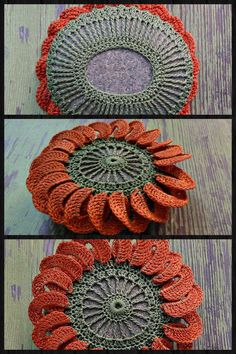 Crochet rock, stone doily cover inspiration.