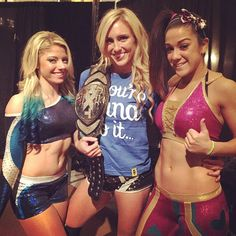 Alexa Bliss, Charlotte, and Bayley