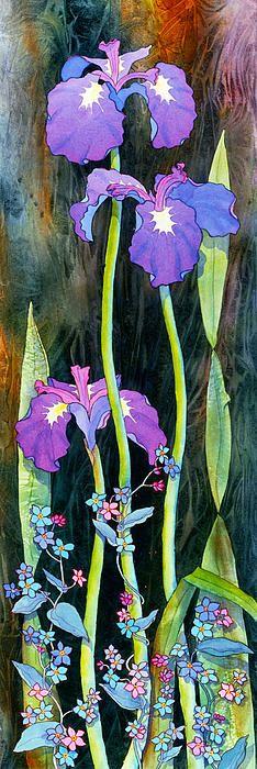 Iris Tall & Slim. Watercolor, 14 x 44 Teresa Ascone