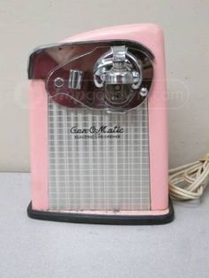 OMG Gotta Have It! Vintage Pink Can-O-Matic Electric Can Opener