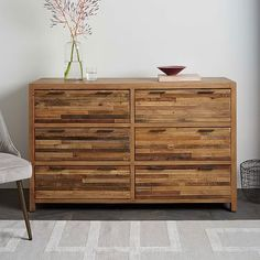 Bay Reclaimed Pine 6-Drawer Dresser - Rustic Natural #westelm