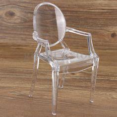 3/5Pcs 1:6 Scale Dollhouse Miniature Armchair Transparent Furniture Seat Chair #UnbrandedGeneric