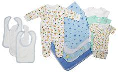 Bambini Newborn Baby Boy 11 Pc Layette Baby Shower Gift Set