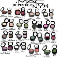 NYX Eyeshadow Dupes for MAC Shadows