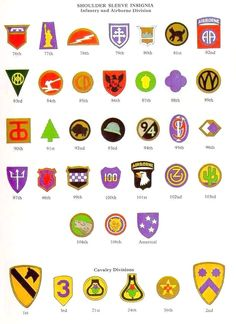US Army shoulder sleeve Insignias of World War II 2 2e7214662c1