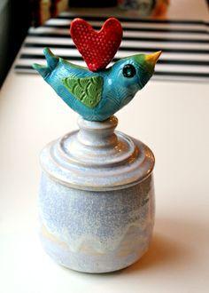TWEET TWEET pottery bird by www.becreativemary.com