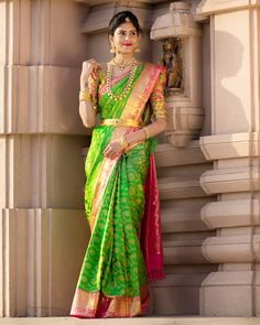 """letsthinkstyle on Instagram: """"Wedding season is around the corner!!! And one of the reasons why I love weddings? I could get all decked up in a pattu saree hahahaha 😍😁 .…"""" Pattu Sarees Wedding, Wedding Saree Blouse Designs, Pattu Saree Blouse Designs, Bridal Silk Saree, Designer Bridal Lehenga, Saree Blouse Patterns, Party Sarees, Wedding Saree Collection, Saree Photoshoot"""