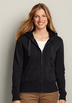 Eddie Bauer Embroidered Sherpa Hoodie - warm and comfy!