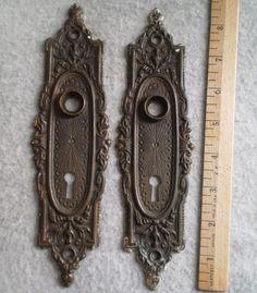 Antique victorian door plates Antique Door Hardware, Victorian Door, Selling Antiques, Doors, Plates, Decorating, Projects, Crafts, House