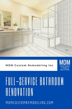 At MDM Custom Remodeling Inc, we take pride in offering full-service bathroom renovation Los Angeles and its surrounding areas. #bathroom #remodeling #renovation #bath Bathroom, Design, Washroom, Full Bath, Bath, Bathrooms