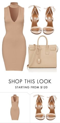 """""""Untitled #295"""" by kimbo20111 ❤ liked on Polyvore featuring Aquazzura and Yves Saint Laurent"""
