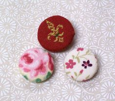 Fabric covered buttons no kit!