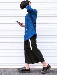 あつ ガウチョパンツもっと履きたい とりあえず髪長い♂️ 更新ペースゆっくりですが