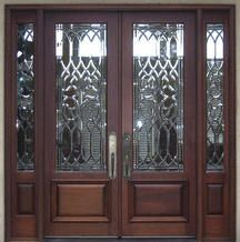 Mahogany Double Door With Leaded Glass. I Always Wanted To Replace Our Doors  With Something