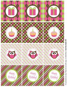 FREE Owl Birthday Party Printables *plus* links to some other awesome free birthday party printables at Sweet Rose Studio!