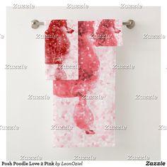 Posh Poodle Love 2 Pink Bath Towel Set Source by leonbienceretailbrand Bath Towels Bath Towel Sets, Bath Towels, Pink Baths, Dog Jewelry, Succulents Diy, Pet Accessories, Etiquette, Poodle, Print Design